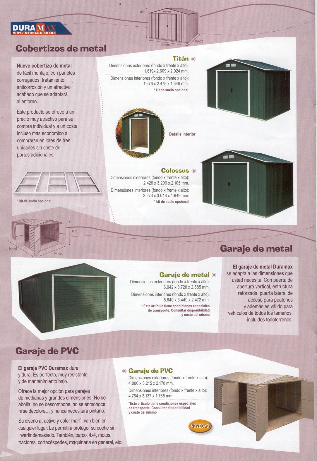 Cobertizos de jardin granada for Jardin botanico granada precio
